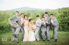 Bridal Party Pose | Monadnock Berry Farm | Troy, NH