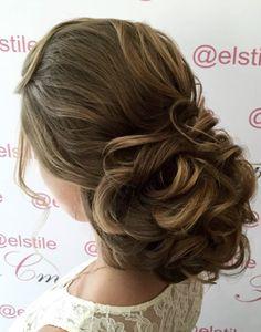 Elegant chic wedding hairstyle idea from Elstile