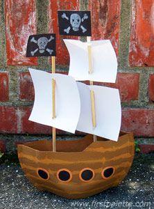 Mayflower/Thanksgiving or Pirate Ship/Beach/Ocean themed craft idea