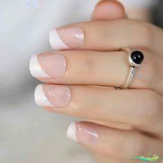 nails tips design #nails #tips #design - nails tips + nails tips design + nails tips and tricks + nails tips acrylic + nails tips design french + nails tips design gel + nails tips gel + nails tips acrylic short<br> French Nails Glitter, White Tip Nails, French Tip Nails, Glitter Nails, Black French Manicure, French Nail Art, Silver Glitter, Cute Spring Nails, Summer Nails