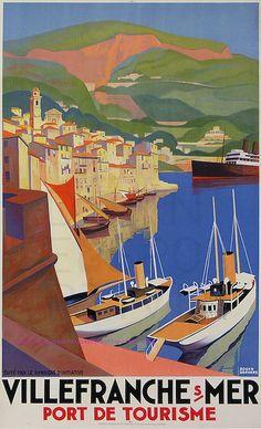 Roger Broders Villefranche Sur Mer 61,5X101  Lucien Serre by estampemoderne.fr, via Flickr