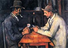 The Card Players by Paul Cezanne, a French post-impressionist painter who lived between 1839 and The Card Players is believed to be the most expensive painting ever sold and it was given to the Royal Family of Qatar for over 250 million dollars. Most Famous Paintings, Great Paintings, Famous Artists, Great Artists, Oil Paintings, Popular Paintings, French Paintings, Picasso Paintings, Most Expensive Painting