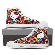 Hello Kitty Women's High Top Shoe Hello Kitty Shoes, Converse Chuck Taylor, High Top Sneakers, Fashion, Moda, Fashion Styles, Fashion Illustrations