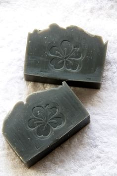 My soap I made... Charcoal soap ""