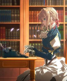 "Violet Evergarden a young girl formerly known as ""the weapon"" has left the battlefied to start new life! Anime Naruto, Manga Anime, Fanart Manga, Film Manga, Me Me Me Anime, Anime Love, Violet Evergarden Wallpaper, Violet Evergreen, Violet Evergarden Anime"