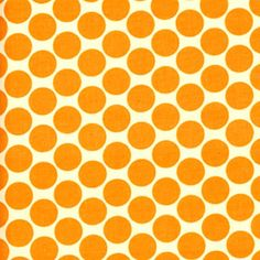 Tangerine Full Moon Dots Lotus Fabrics Amy Butler by fabricsilove, $8.95