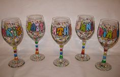 CUTE!  Party Glasses by AChristmasCarol on Etsy, $18.00