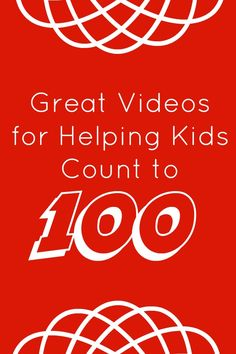 10 great videos to help kids practice counting to As kids learn to count to 100 it is also a lot of fun to sing along to some counting songs. These are ten of the videos I've enjoyed using at home and in the classroom to practice counting to Counting Songs For Kids, Counting For Kids, Math For Kids, Fun Math, Math Activities, Creative Activities, Math Songs, 100 Songs, Kindergarten Math