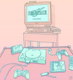 """Phazed"" kawaii gaming girly play station pastel"