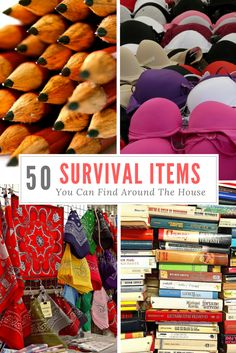 If you know how, you can turn ordinary everyday items into survival supplies. Here's a list of survival items you can find around the house. Survival Items, Survival Weapons, Survival Supplies, Survival Equipment, Urban Survival, Survival Life, Survival Food, Outdoor Survival, Survival Prepping