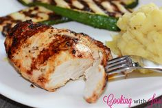 Grilled Italian Chicken - Crispy on the outside and juicy on the inside, this chick is sure to be a summer favorite!