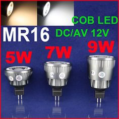 Find More LED Bulbs & Tubes Information about 2PCS/set 5W 7W 9W MR16 AC/DC 12V White/Warm white cob led spotlight lamp for home lighting cob led spot light bulb mr16,High Quality mr16 osram,China lamp uplight Suppliers, Cheap mr16 high power led from Shenzhen MDL Technology Co.,Ltd on Aliexpress.com