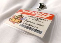 """Introducing my new laminated ID Badges. These designs are inspired by the hit indy video game """"Five Nights at Freddy's 2"""" which is set around 1987.  These designs are meant... #snowbunnystudios #handmade #cosplay #costuming #cute #collectable #cutecollectablecosplay #shopsteam #fnaf #costume #kosplay #kostume #coscraft #horror #accessory #fnaf2"""