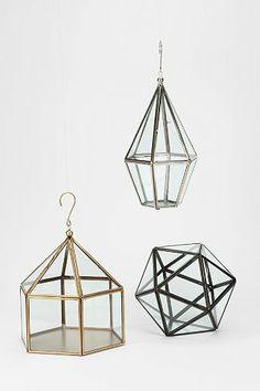 Faceted Hanging Terrarium