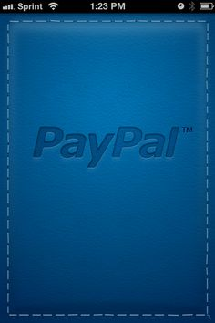 Splash Screen from Paypal