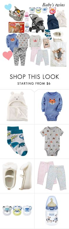 """baby's twins"" by florida2k2 ❤ liked on Polyvore featuring John Lewis, Carter's, Baby Jogger, Huggies and Stokke"
