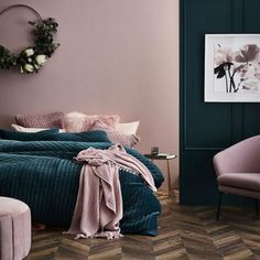 11 Cool Pink Bedroom Ideas That Can be Pretty - All Bedroom Design Pink Bedroom Design, Bedroom Paint Colors, Master Bedroom Design, Home Decor Bedroom, Bedroom Wall, Bedroom Ideas, Bedroom Designs, Bed Room, Bedroom Ceiling