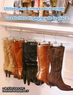 Le p'tit truc de génie pour ranger vos belles bottes. Découvrez l'astuce ici : http://www.comment-economiser.fr/meilleure-facon-ranger-bottes.html?utm_content=buffer1245a&utm_medium=social&utm_source=pinterest.com&utm_campaign=buffer