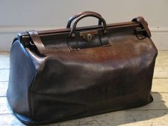 Early 20th Cent Gladstone Leather Bag