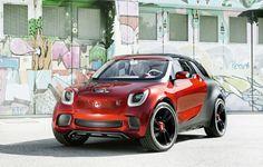 Smart ForStars Concept For Paris Auto Show Smart Auto, New Smart Car, Smart Forfour, Smart Roadster Coupe, Paris, Mercedes Benz, Cinema Projector, Smart Fortwo, Car Prices