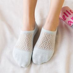 In Flavor Solid Color No Show Socks Women Boat Invisible Girls Cotton Women Socks Slippers 1 Pair Fragrant
