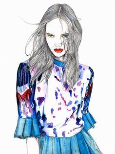 #Fashionillustration #FashionIsArt Akane Nakamura