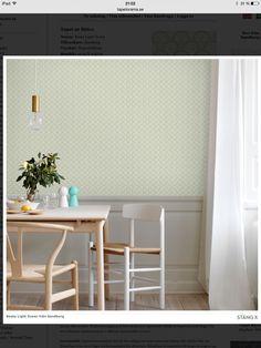 KÖKET Tapet nr 86611 Namn: Beata Light Green Tillverkare: Sandberg