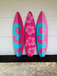 TRES de mis 4 pie decoración del arte de la por SerendipitySurfShop