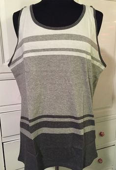 a18ece2a5364a Mossimo Supply Co Men s Tank Top Striped Grey Gray L Large  Mossimo   GraphicTee Mossimo