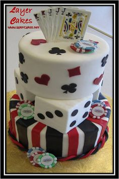 Poker Cakes / Las Vegas / Casino / Gambling