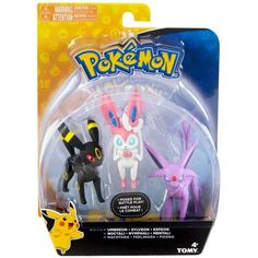 Pokemon Action Pose Umbreon, Sylveon and Espeon Mini Figure Pokemon Umbreon, Eevee Evolutions, Pokemon Plush, Pokemon Party, Pokemon Games, Pokemon Birthday, 5th Birthday, Pokemon Go List, Pokemon Stuff