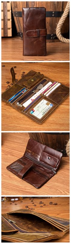 LONG LEATHER WALLET, LEATHER HOLDER, MONEY CASE MS129 Handmade Leather Wallet, Leather Card Wallet, Handmade Bags, Fashion Handbags, Fashion Bags, Money Case, Best Bags, Purses And Bags, Jean Purses