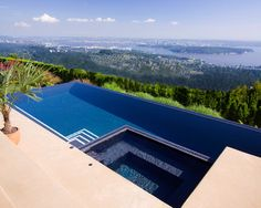 Vanishing Edge Contemporary Pool In Vancouver By Alka Cool Swimming Pools Designs