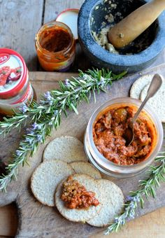 The Secret Recipe Club: Sun-Dried Tomato and Olive Tapenade with Rosemary Recipe