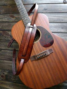 Leather Guitar Strap Custom Guitar Strap Handmade by JPDco