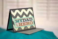 colorful chevron tie father's day card by cassandra7creates, $4.00