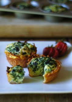 Mini Spinach Quiche with a Hashbrown Crust. Yum!! This is from a blog that gives alternatives to processed kid food.