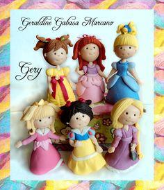 princesas disney  porcelana fria polymer clay