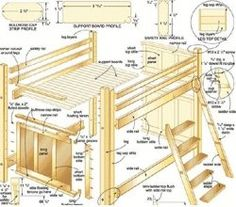 Free bunk bed plans on Pinterest