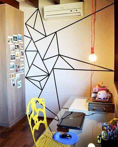 Fita isolante na decoração 002