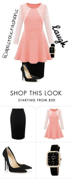 """Apostolic Fashions #1445"" by apostolicfashions on Polyvore featuring Alexander McQueen, Jimmy Choo and Akribos XXIV"