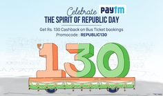 Flat Rs.130 Cashback On Bus Ticket Bookings http://goosedeals.com/home/details/paytm/121467.html