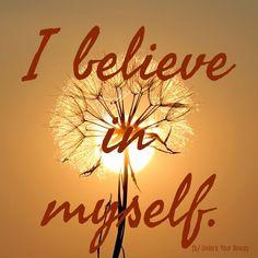 I believe in myself affirmation