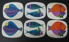 1960s Worcester Ware Fish Placemats
