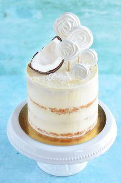 Pina Colada Cake, Lollipop Recipe, Meringue, Cake Cookies, Vanilla Cake, Tart, Cake Recipes, Panna Cotta, Cheesecake