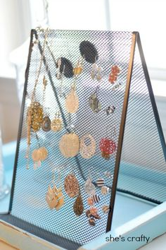 She's crafty: Easiest Jewelry Holder ever!!