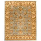 Heritage Blue/Beige 9 ft. 6 in. x 13 ft. 6 in. Area Rug