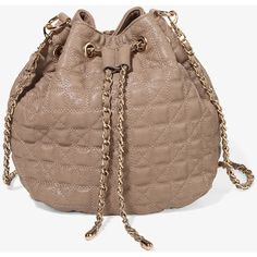 FOREVER 21 Quilted Bucket Bag ($30) via Polyvore