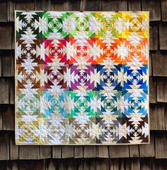 VOTE–Modern Solids, Traditional Inspiration Quilts + ENTER–Win 40 Fat Quarters from Denyse Schmidt's Next Collection, Franklin! Pineapple Quilt Pattern, Pineapple Quilt Block, Fat Quarters, Rainbow Quilt, Rainbow Blocks, Log Cabin Quilts, Log Cabins, Barn Quilts, Quilt Modernen