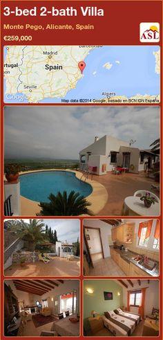 3-bed 2-bath Villa in Monte Pego, Alicante, Spain ►€259,000 #PropertyForSaleInSpain